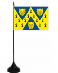 Shropshire Desk / Table Flag with plastic stand and base.